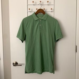 J Crew Slim Heathered Piqué Polo Shirt